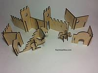 """Игровой набор для мальчиков. Деревянный конструктор """"Средневековая крепость"""""""