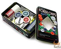 Набор покерных фишек 100 шт с номиналом