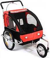 Велоприцеп, прицеп для велосипеда, велотрейлер  пассажирский JOGGER 2in1