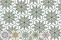 Марокканская цементная плитка, шестигранник 30х35 см. Декоры