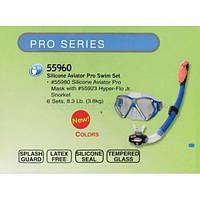 Набор для плавания (маска + трубка) Intex SILICONE AVIATOR PRO 55960