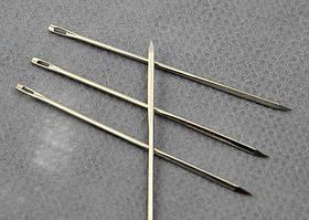 Игла для шитья кожи 5,8см с треугольным острием