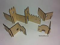 """Деревянный конструктор """"Очертание замка""""  в наборе 20 частей, фото 1"""