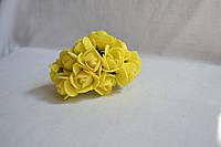 Цветок Роза  жёлтая