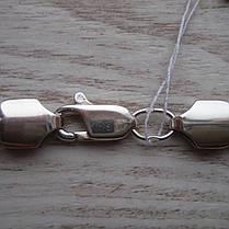 Cеребряный мужской браслет, 220мм, 26 грамм, плетение Бисмарк, фото 3