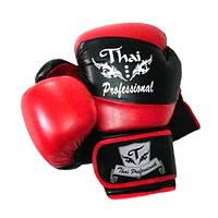Перчатки боксерские Thai Professional BG7 Black/Red