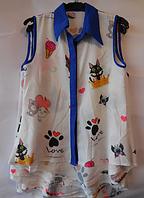 Стильная детская рубашка для девочки , фото 1