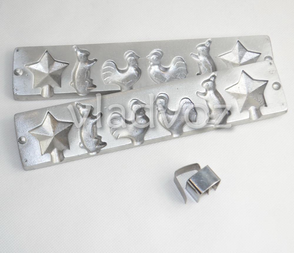 Алюминиевая форма для леденцов конфеты на палочке звезда