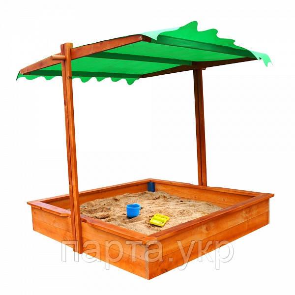 """Детская песочница с крышей-трансформером """"Казка"""""""