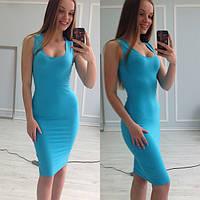 Платье женское Мириам голубое , женская одежда
