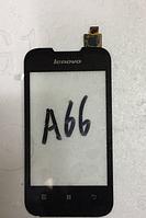 Оригинальный тачскрин / сенсор (сенсорное стекло) для Lenovo A66 (черный цвет)