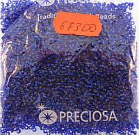 Бисер 10/0, цвет - синий ирис, №67300 (уп.50 грамм)