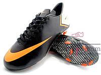 Бутсы (копы) Nike Mercurial Victory (Черный, оранжевый)