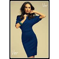 Женское Платье летучая мышь синее 48-50 и 50-52