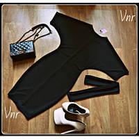 Женское Платье летучая мышь черное 42-44 и 44-46