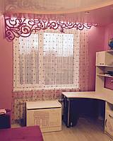 Розовый ажурный ламбрикен
