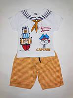 Костюм детский для мальчика от 1 до 6 лет футболка + шорты, фото 1