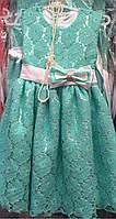 Нарядное ажурное платье для девочки 27046