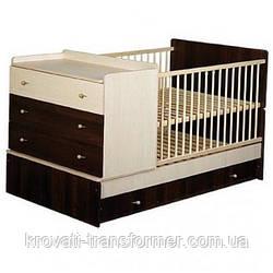 Детская кровать трансформер от 0 до 12 лет модель 10
