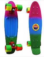 Пенни Борд (Penny Board) 22 (триколор - зелено сине розовый)