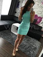 Женское Платье летнее  мини мято
