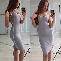 Платье женское Мия серое , платья интернет