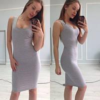 Платье женское Мириам серое , платья интернет