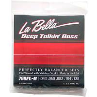 Струны La Bella Flat Wound Bass 760FL-B Standard 5-String 43-128