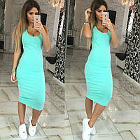 Женское красивое летнее платье-миди (4 цвета), фото 1
