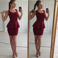 Платье женское Жарди бордо , женская одежда