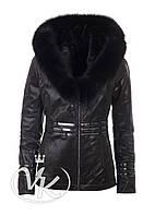 Кожаная куртка с мехом лазерная, фото 1