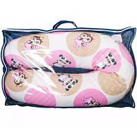 Подушка из холлофайбера для кормления Мишки на облаках бежевая