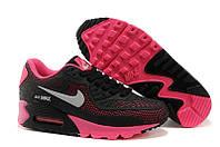 Кроссовки женские Nike Air Max 90 GL (nike max, найк аир макс, nike air, аир 90, оригинал) черно-розовые