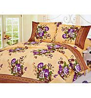 Комплект белья двуспальный Евро Букет цветов