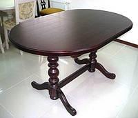 Стол овальный раздвижной из натурального дерева «Гирне»  1800(2200)х940