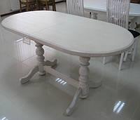 Стол раздвижной из натурального дерева овальный «Гирне»  1800(2200)х940