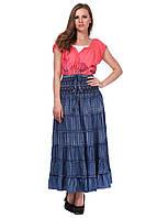 Джинсовая женская юбка в пол 5108
