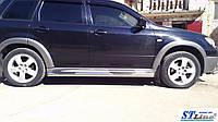 Боковые пороги для Mitsubishi Outlander 2003-2008 ST Line