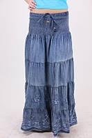 Женская юбка с широким поясом-резинкой 02089