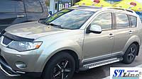 Боковые пороги для Mitsubishi Outlander 2012+ ST Line