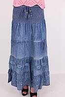 Женская юбка из тонкого джинса 01305