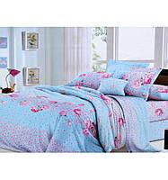 Комплект белья двуспальный Евро Голубая лагуна