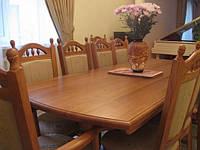 Стол раздвижной из натурального дерева  «Гирне 2200 дуга»  2200(2600)х940