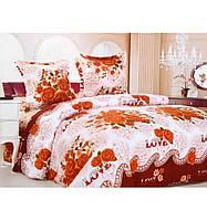 Комплект белья двуспальный Евро Розы любви