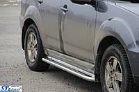 Боковые пороги для Mitsubishi Outlander 2003-2008 d:42 ST Line