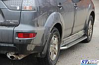 Боковые пороги для Mitsubishi Outlander 2006-2012 d:51 ST Line