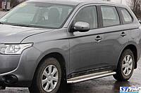 Боковые пороги для Mitsubishi Outlander 2012+ d:42 ST Line