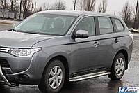 Боковые пороги для Mitsubishi Outlander 2012+ d:51 ST Line
