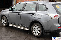 Боковые пороги для Mitsubishi Outlander 2006-2012 d:60 ST Line