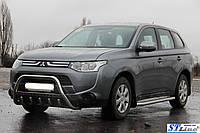 Боковые пороги для Mitsubishi Outlander 2012+ d:60 ST Line